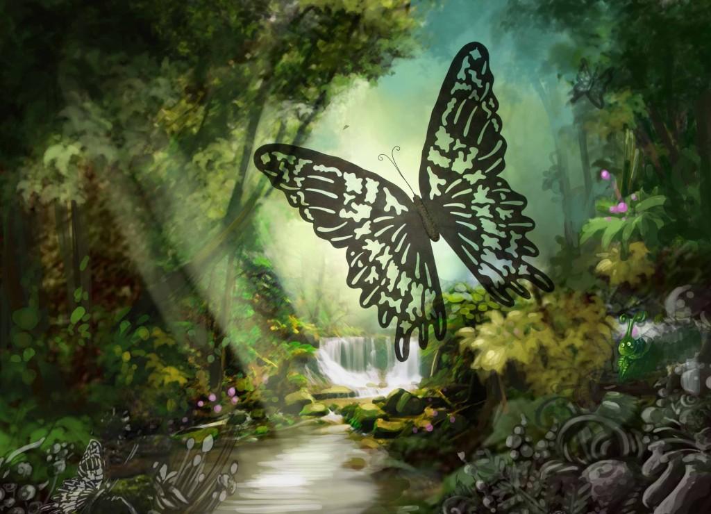 fresque papillon 3