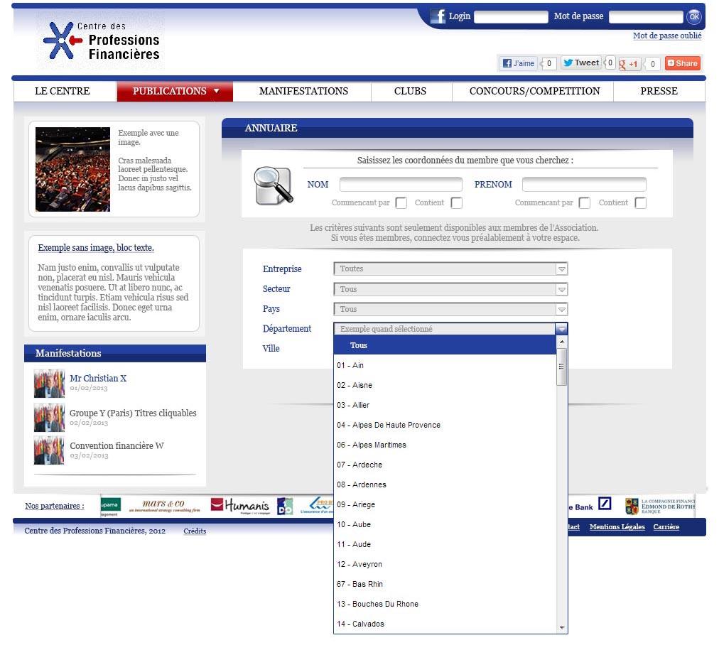 Page annuaire_recherche_selection