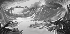 Sketch volcans
